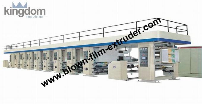 De alta velocidad de la máquina de impresión en huecograbado de la máquina